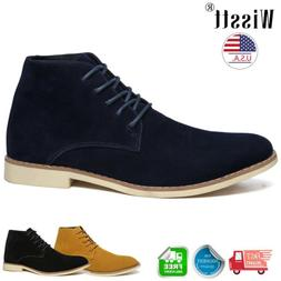 Men's Suede Leather Chelsea Chukka Oxford Dress Ankle Boots