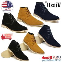 Men's Suede Leather Chelsea Chukka Oxfords Dress Ankle Boots