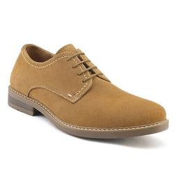 Men's Suede Leather Dress Oxfords Shoes  Casual Lace Up Wing