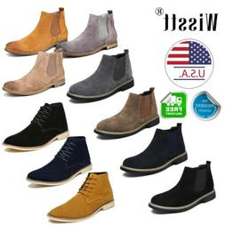 Men's Suede Oxford Chukka Boots Dress Shoes Casual Desert Ch