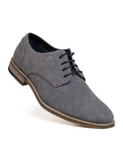 Jivana Men's Suede Oxford Dress Shoes Lace Up Grey size 8-13