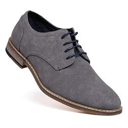 Suede Oxford Dress Shoes Lace Up