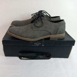 Jivana Men's Suede Oxford Dress Shoes Size 9 Lace Up Blue Gr