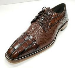 Men's Stacy Adams Talarico Cognac Leather Cap Toe Oxford Dre