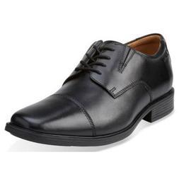 Men's Clarks TILDEN CAP 26110309 Black Leat Cap-toe Lace-up