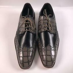 STACY ADAMS Men's Tomaselli Wingtip Lace-up Dress Oxford, Bl