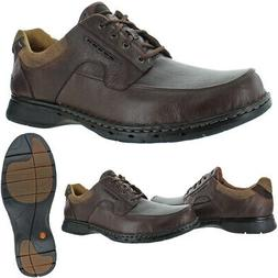Unstructured by Clarks Men's Un.Bend Leather Cushioned Casua