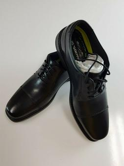 Bostonian Men's Wenham Cap Oxford, Black, 9 M US