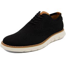 Nautica Men's Wingdeck Oxford Shoe Fashion Sneaker-Black Kni