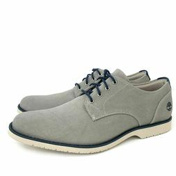 Timberland Men's Woodhull Light Grey Canvas Oxford Casual Dr