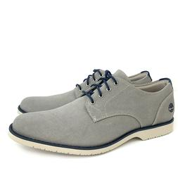 Timberland Men's Woodhull Light Grey Canvas Oxford Shoes A1X