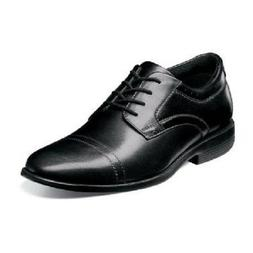 Men Shoes Nunn Bush Dixon Cap Toe Oxford Black Leather Comfo