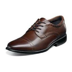 Men Shoes Nunn Bush Dixon Cap Toe Oxford Brown Leather Comfo