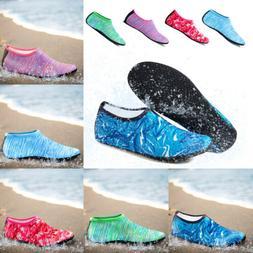 Men Women Aqua Water Shoes Barefoot Socks Quick-Dry Beach Sw
