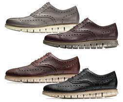Men Cole Haan Zerogrand Wingtip Oxford Shoes Leather Brogue