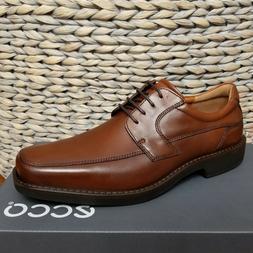 ECCO Men's Seattle Apron Toe Tie Oxford, Cognac/Brown, 46 EU