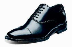 Stacy Adams Mens Black Kordell Leather Cap Toe Business Casu