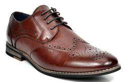 Bruno Marc Men's Classic Brogue Dress Shoes Leather Lined Wi
