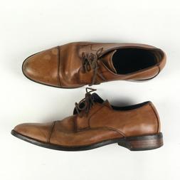 Cole Haan Mens Brown Oxford Lace Dress Shoes Captoe 10 M T81