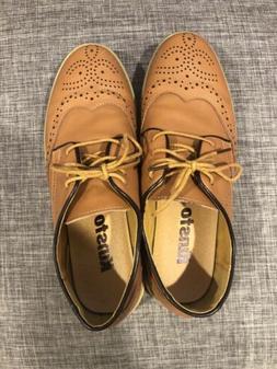 Kunsto Men's Camel Oxford Shoes