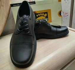 Spring Step  Mens Cameron  Black Leather Lace-Up Oxford Shoe