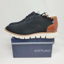 Nautica Mens Casual Oxford Black Shoe Size 9 Genuine Authent