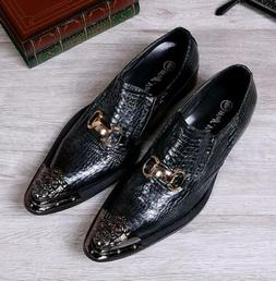 mens casual pointy metal toe business wedding
