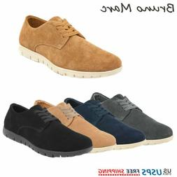 Bruno Marc Mens Casual Shoes Suede Leather Oxford Lace Up Co
