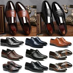 Mens Classic Oxfords Leather Wedding Tuxedo Dress Business O