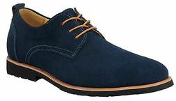 iLoveSIA Mens Classic Suede Leather Oxford Shoes G2 Blue Wit