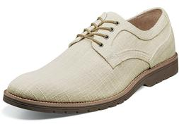 Mens Dress Casual Shoes Plain Toe Oxford Cream Textured Canv
