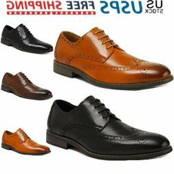 Bruno Marc New Men's Dress Shoes Cap Toe Lace Up Oxfords Lea