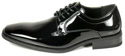 Men's wedding, tuxedo black patent leather formal dress shoe