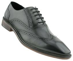Mens Dress Shoes, Lace-Up Wingtip Genuine Leather Shoes for