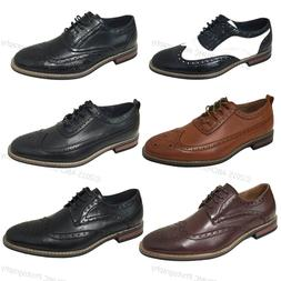 Brand New Men's Dress Shoes Wingtip Lace Up Leather Line Oxf