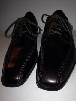 Calvin Klein Mens Estell Dark Brown Derby Dress Shoes Oxford