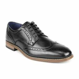 Mens Formal Brogue Leather Oxford Shoes Lace Up Wing Tip Mod