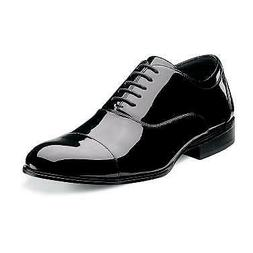 Stacy Adams Mens Gala Black Cap Toe Oxford Leather Tuxedo Dr