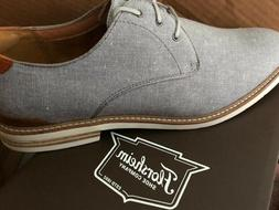 Mens Florsheim Highland Canvas Gray Oxford Shoes Size 10.5/1