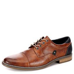 Restoration Mens Justin Lace Up Cap Toe Oxford Shoes, Cognac