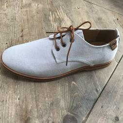 mens linen oxfords lace up size us
