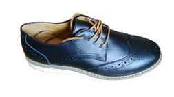 Mens Oxford Dress Shoes Faux Leather Wingtip Lace Up Kunsto