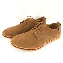 Kunsto Mens Oxford Lace Up Suede Dress Shoes Brown Size 10