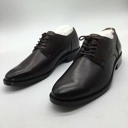 206 Collective Mens Oxford Shoes Chocolate Brown Lace Up Rou