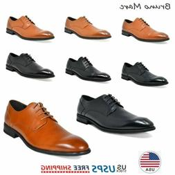Bruno Marc Mens Oxford Shoes Genuine Leather Lace up Casual