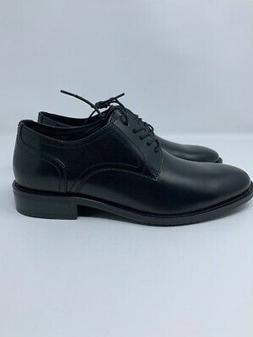 206 Collective Mens Oxfords Shoes Black Leather Lace Up Plai