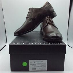 206 Collective Mens Oxfords Shoes Chocolate Brown Lace Up Pl
