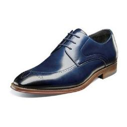Stacy Adams Mens Shoes Ballard Plain Toe Oxford Lace Up Ink