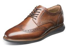 Florsheim Mens Shoes Fuel Wingtip Oxford Cognac 14238-221