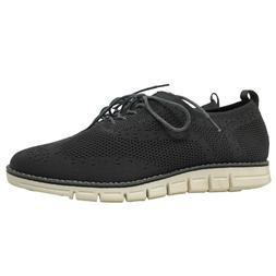 Hawkwell Mens Shoes Gray Knit Oxford Goods for Life Comfort